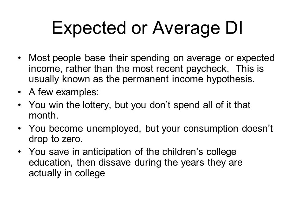 Expected or Average DI