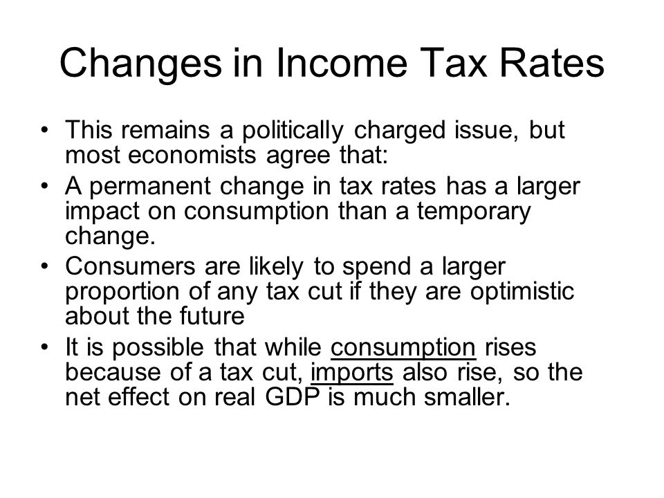 Changes in Income Tax Rates