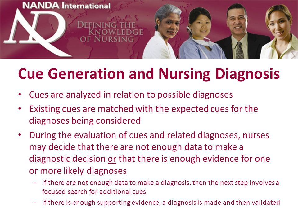 Cue Generation and Nursing Diagnosis