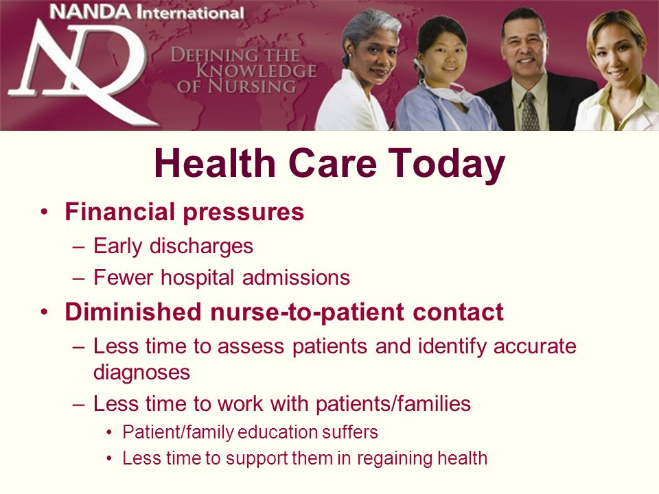 Health Care Today Financial pressures