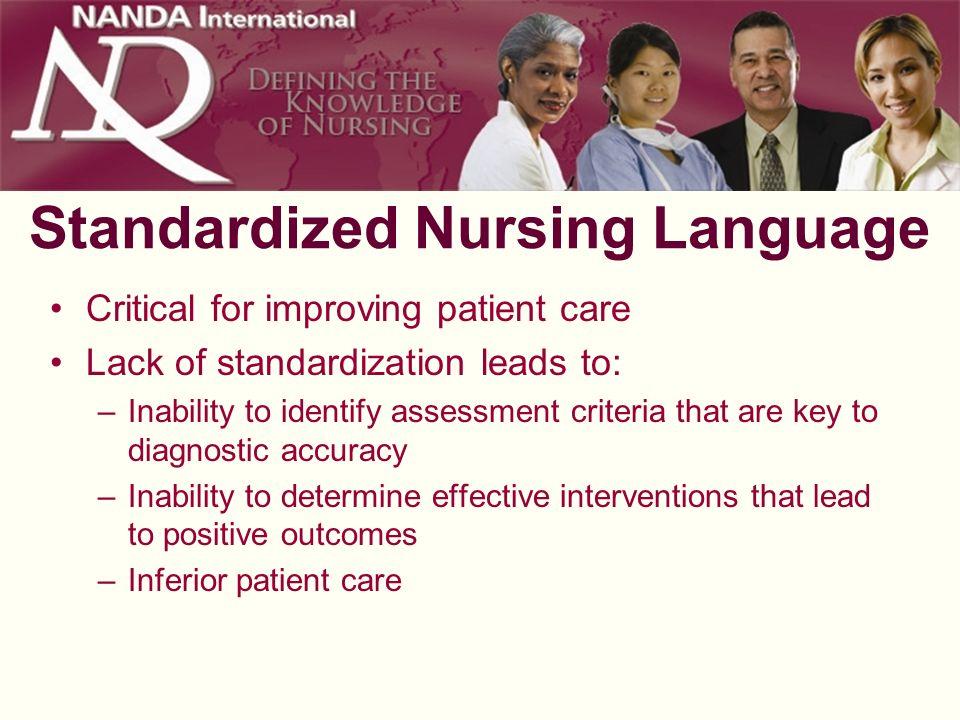 Standardized Nursing Language