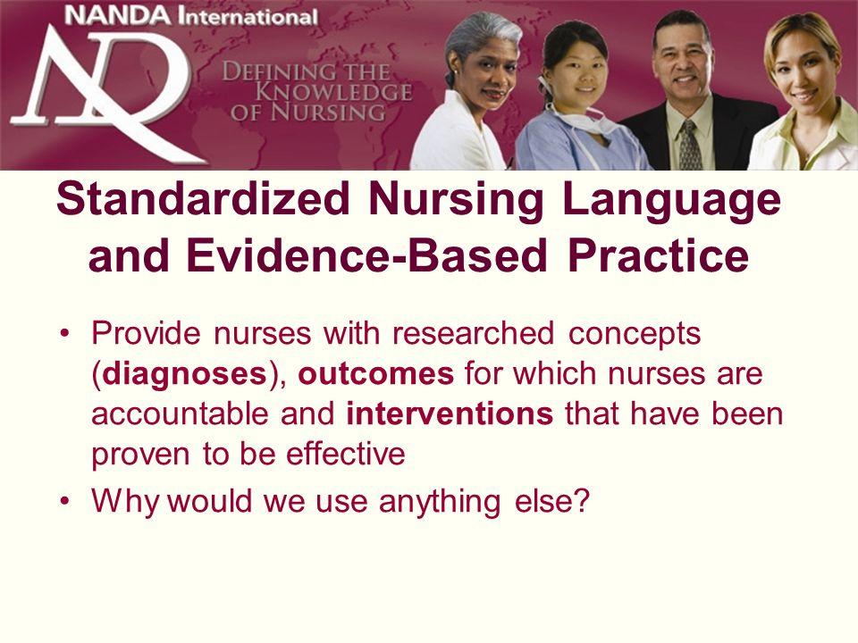 Standardized Nursing Language and Evidence-Based Practice