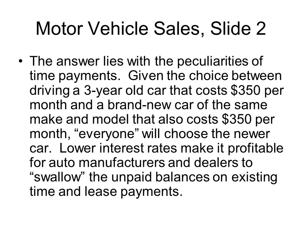 Motor Vehicle Sales, Slide 2
