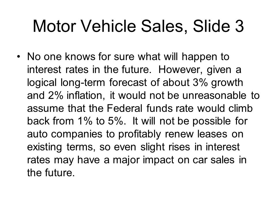 Motor Vehicle Sales, Slide 3