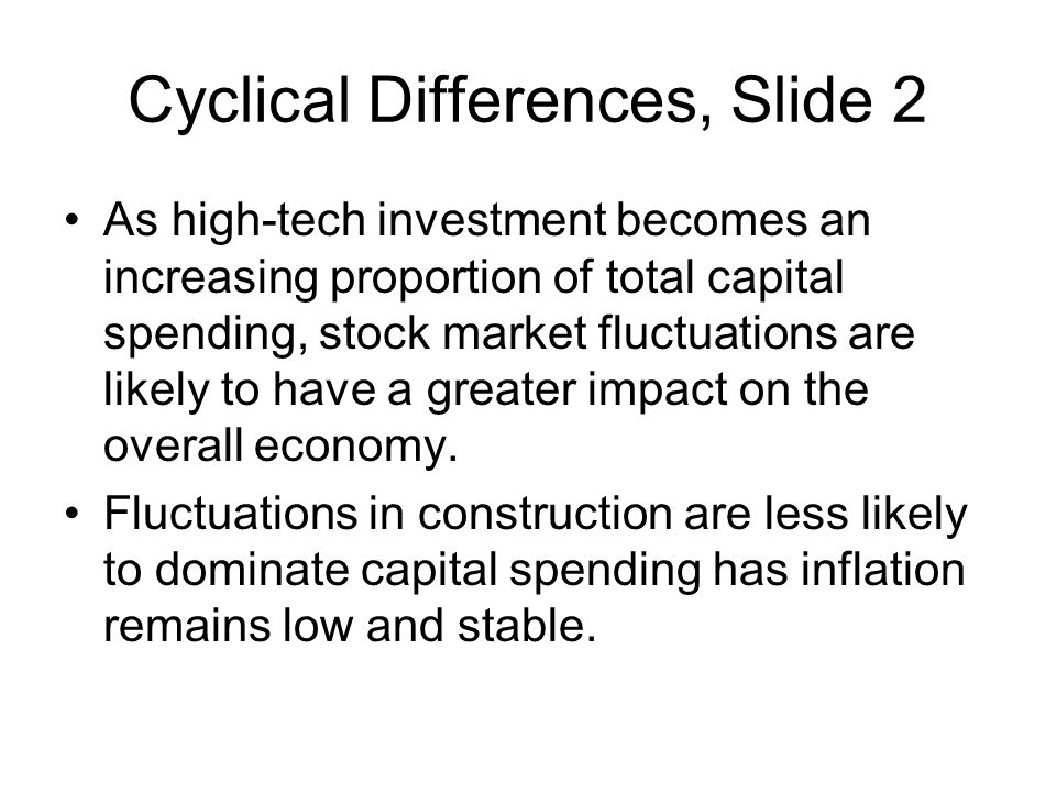 Cyclical Differences, Slide 2