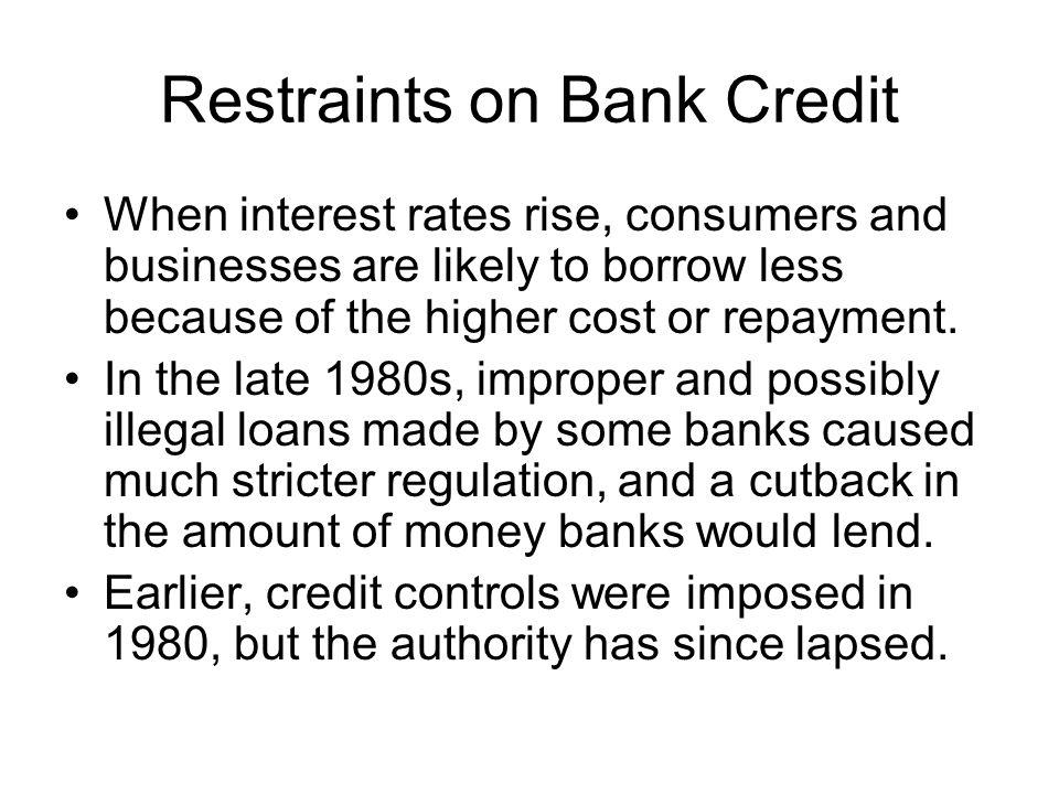 Restraints on Bank Credit