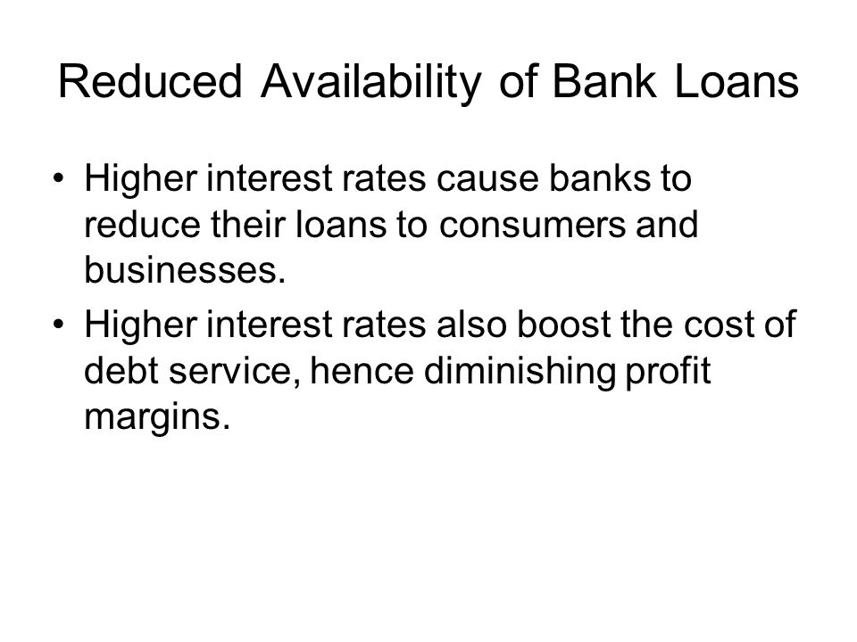 Reduced Availability of Bank Loans