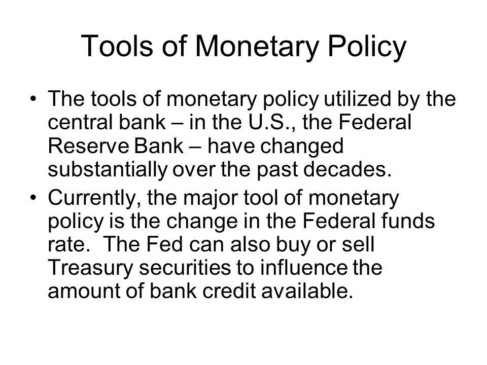 Tools of Monetary Policy