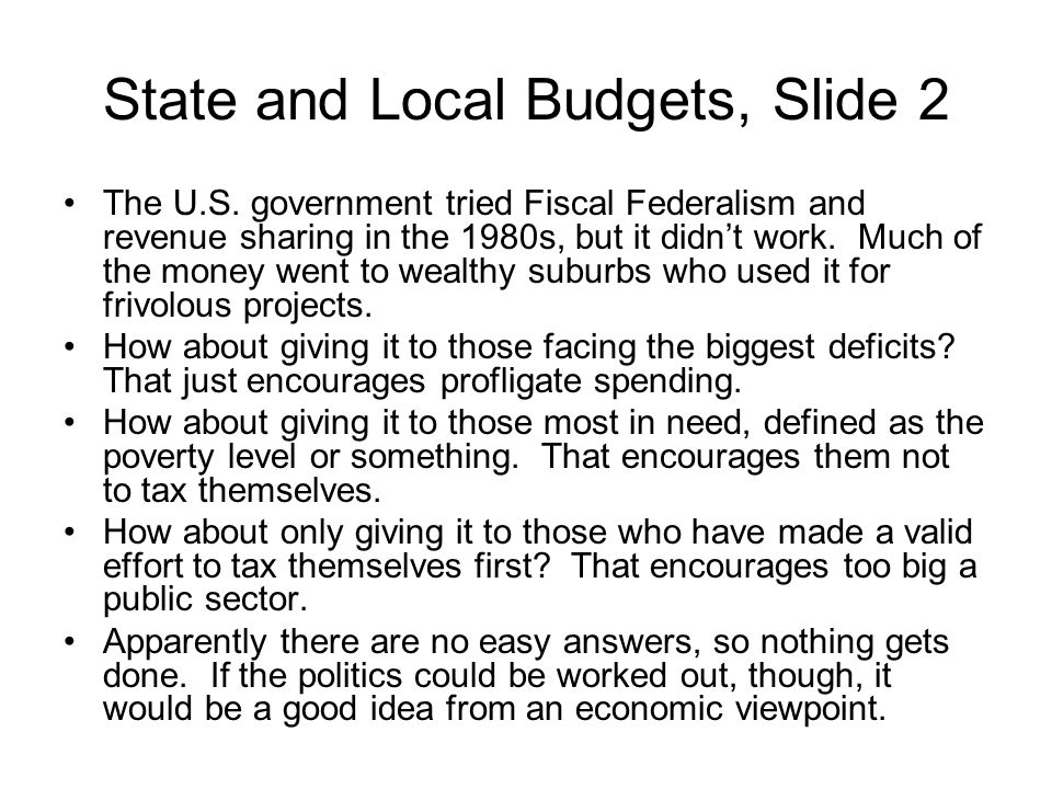 State and Local Budgets, Slide 2