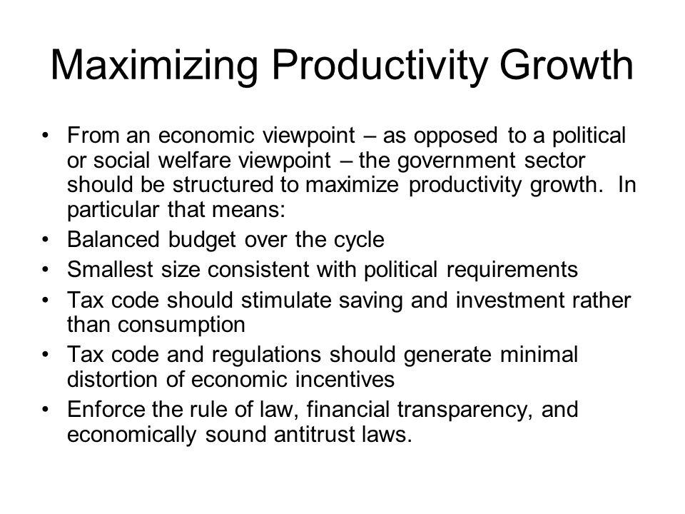 Maximizing Productivity Growth