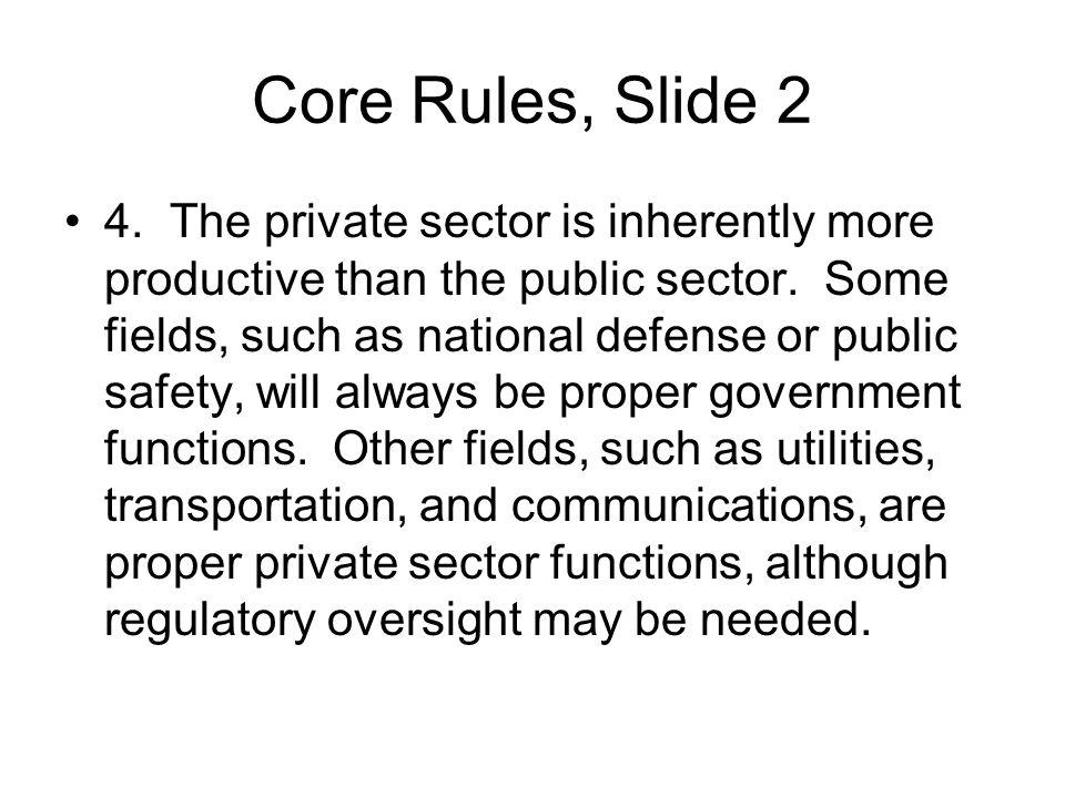 Core Rules, Slide 2