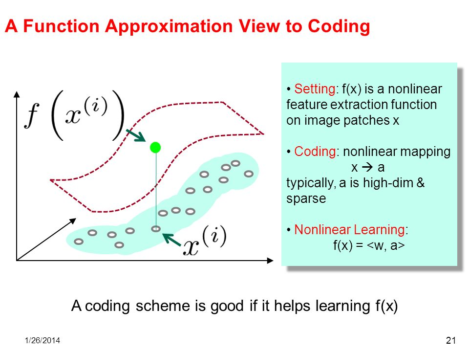 A Function Approximation View to Coding