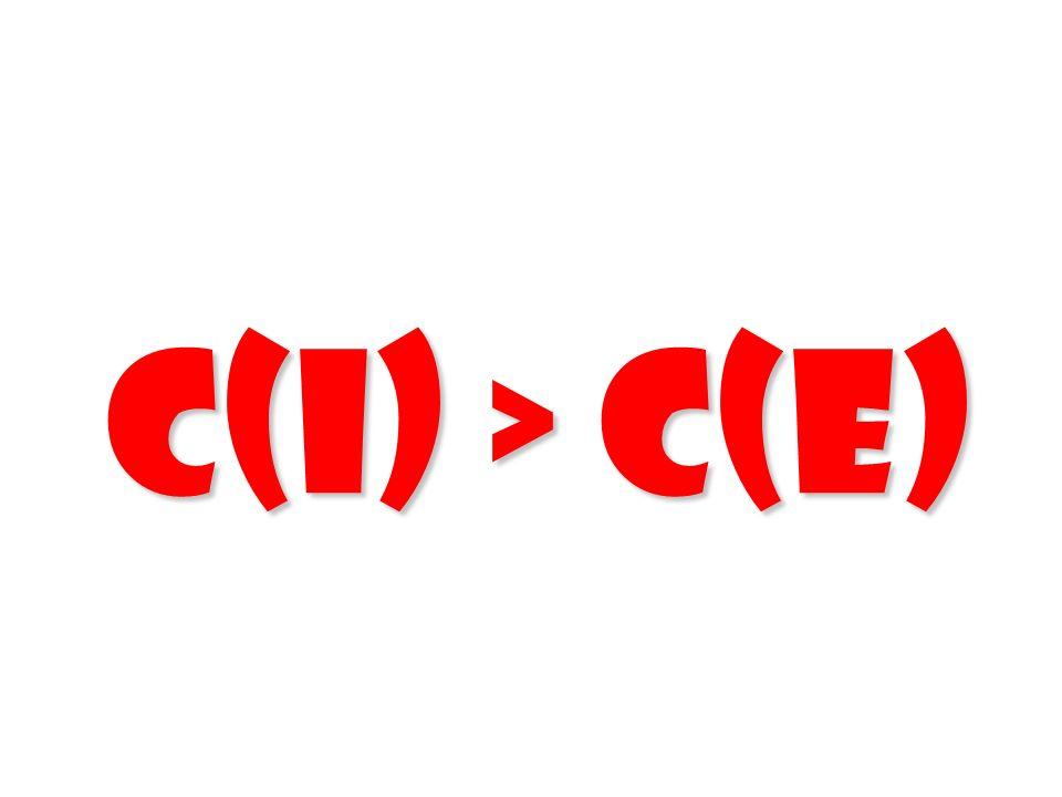 C(I) > C(E) 104