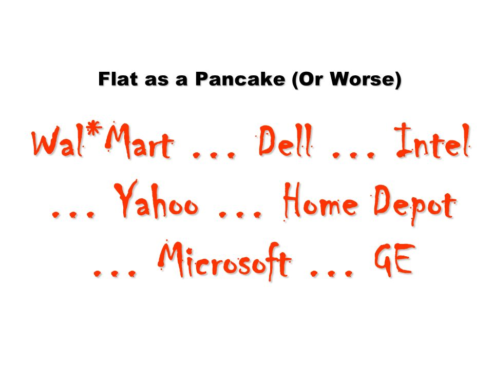 Flat as a Pancake (Or Worse) Wal