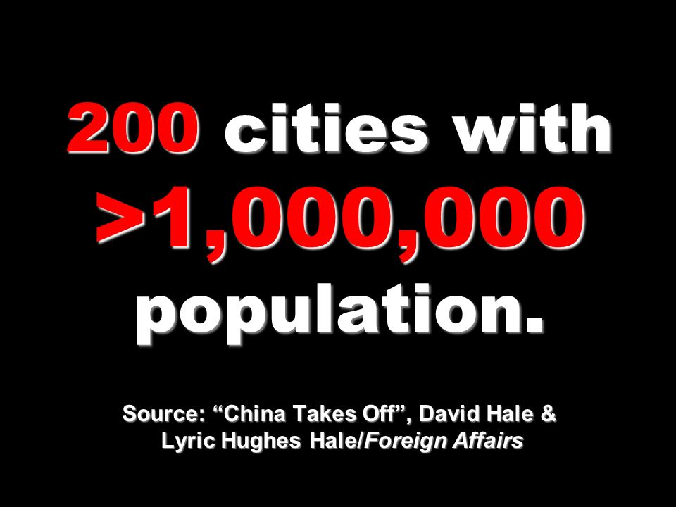 200 cities with >1,000,000 population