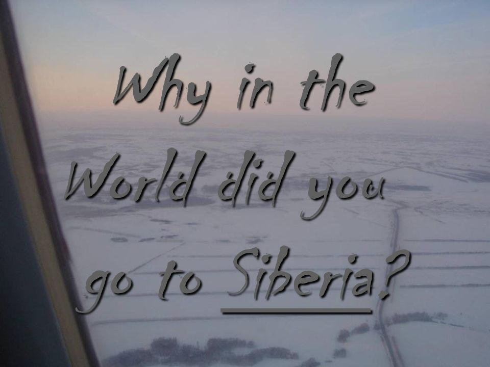 Why in the World did you go to Siberia web