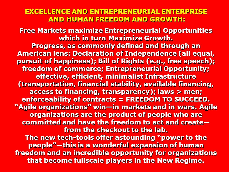 EXCELLENCE AND ENTREPRENEURIAL ENTERPRISE