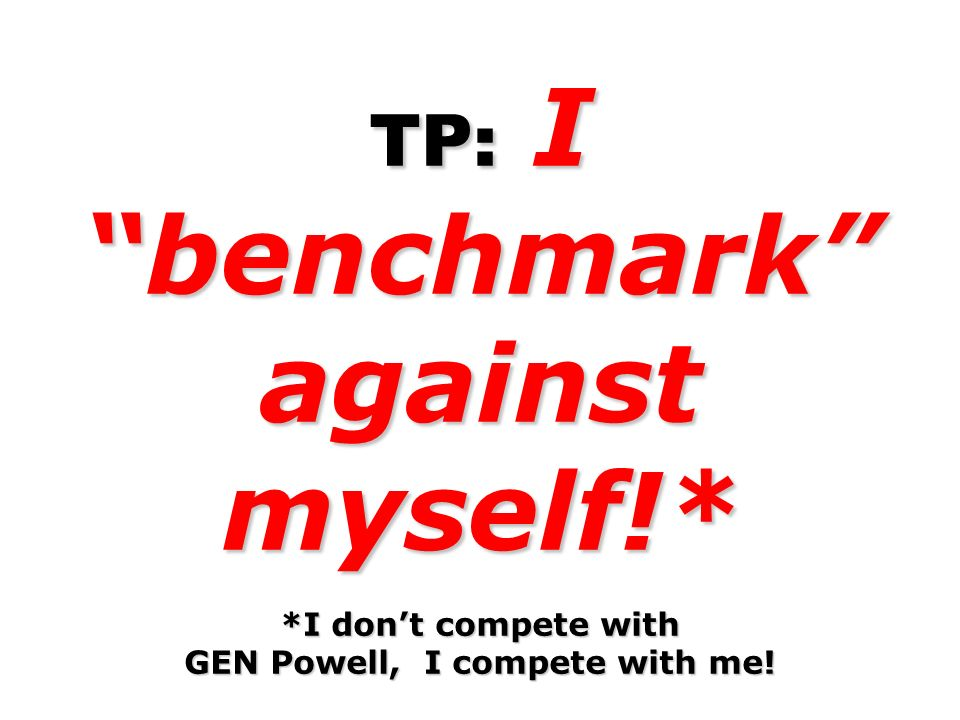 TP: I benchmark against myself