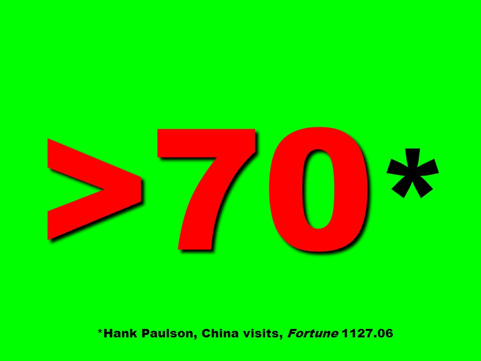 >70* *Hank Paulson, China visits, Fortune