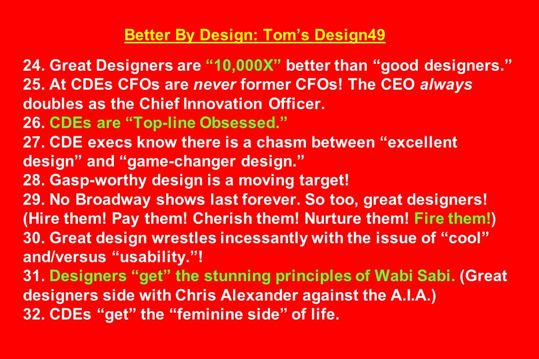 Better By Design: Tom's Design49 24