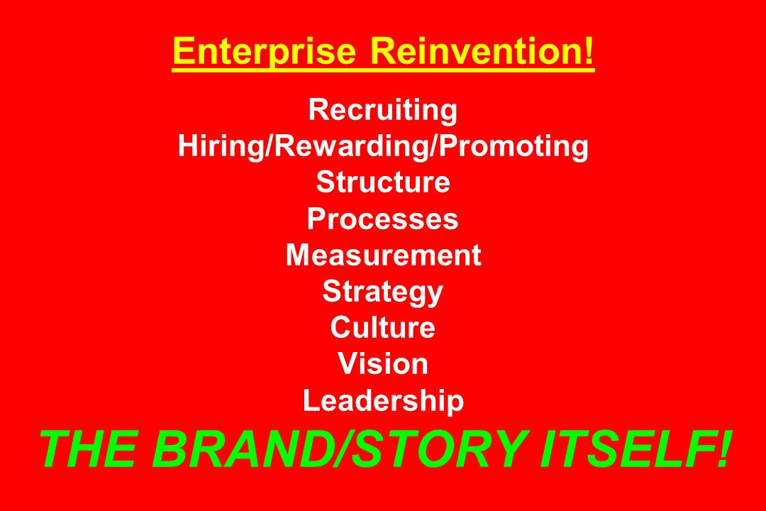 Enterprise Reinvention