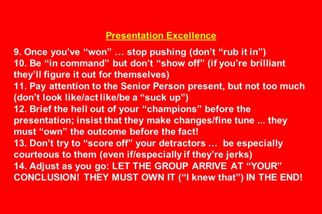 Presentation Excellence 9