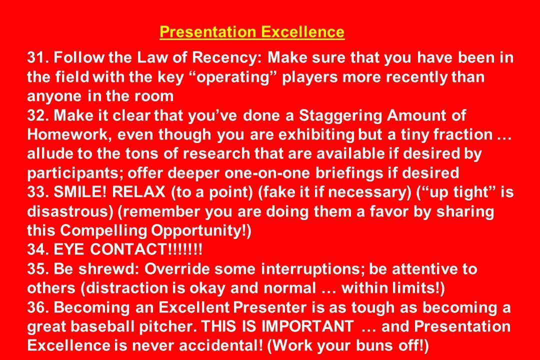 Presentation Excellence 31