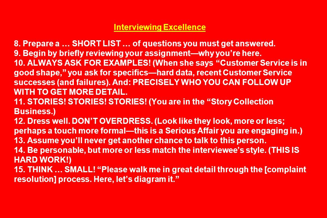 Interviewing Excellence 8