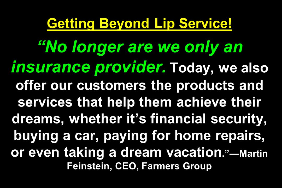 Getting Beyond Lip Service
