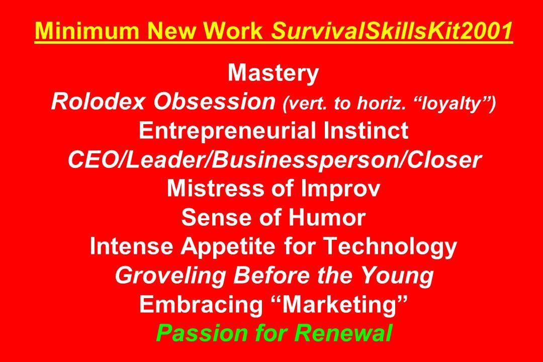 Minimum New Work SurvivalSkillsKit2001 Mastery Rolodex Obsession (vert