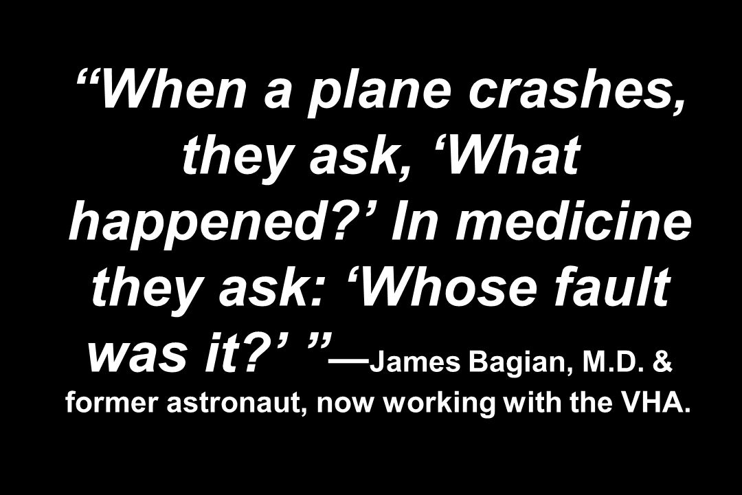 When a plane crashes, they ask, 'What happened