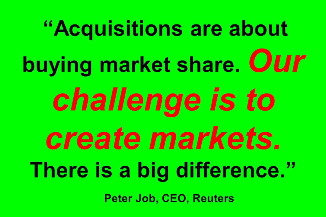 Acquisitions are about buying market share