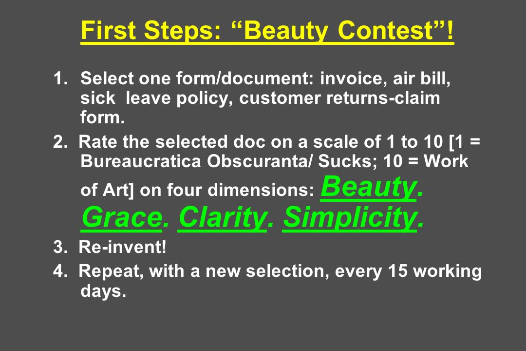 First Steps: Beauty Contest !