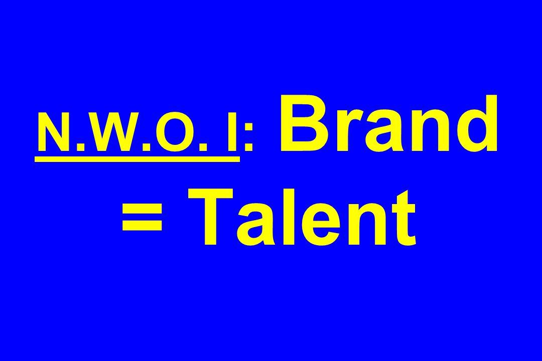 N.W.O. I: Brand = Talent