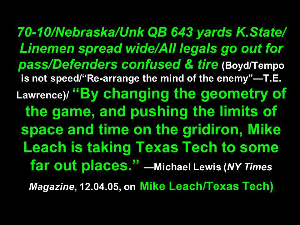 70-10/Nebraska/Unk QB 643 yards K