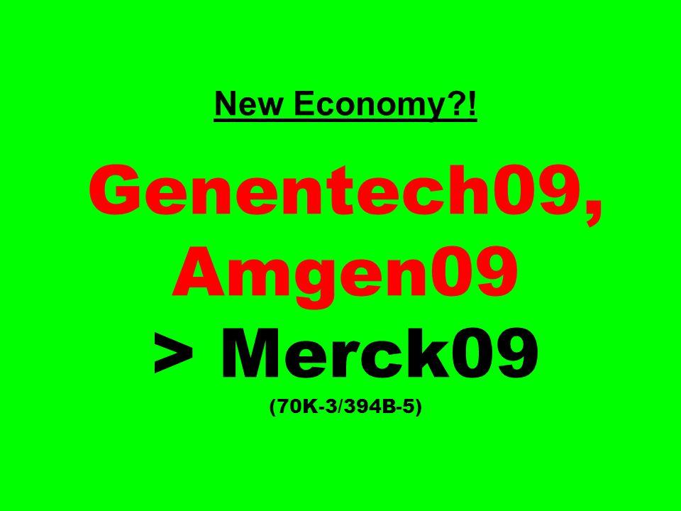 New Economy ! Genentech09, Amgen09 > Merck09 (70K-3/394B-5)