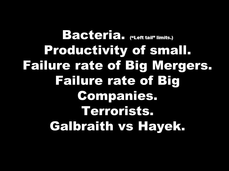 Bacteria. ( Left tail limits. ) Productivity of small