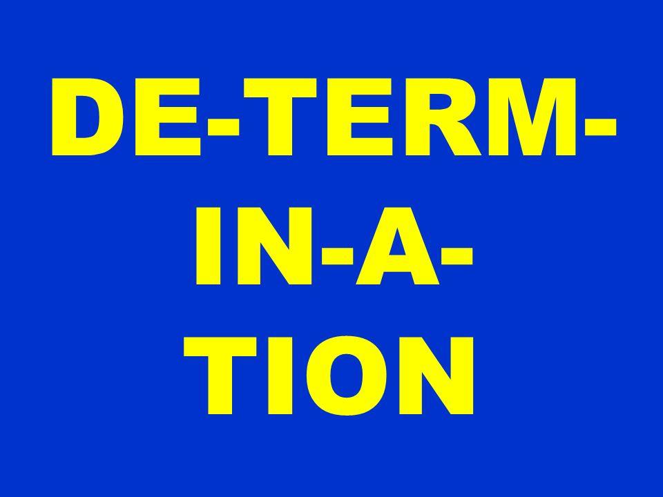 DE-TERM-IN-A-TION