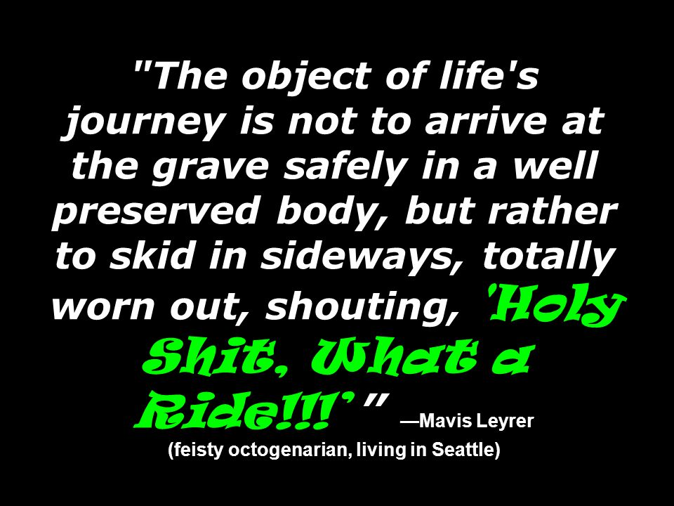 (feisty octogenarian, living in Seattle)