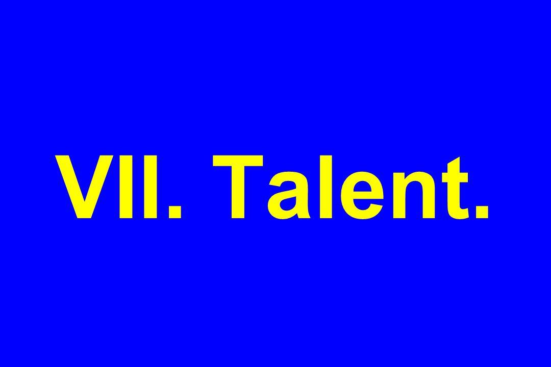 VII. Talent.