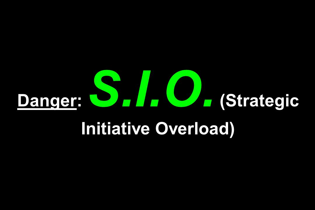 Danger: S.I.O. (Strategic Initiative Overload)