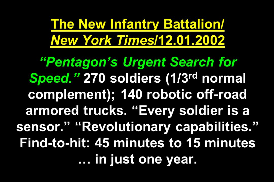 The New Infantry Battalion/ New York Times/12. 01