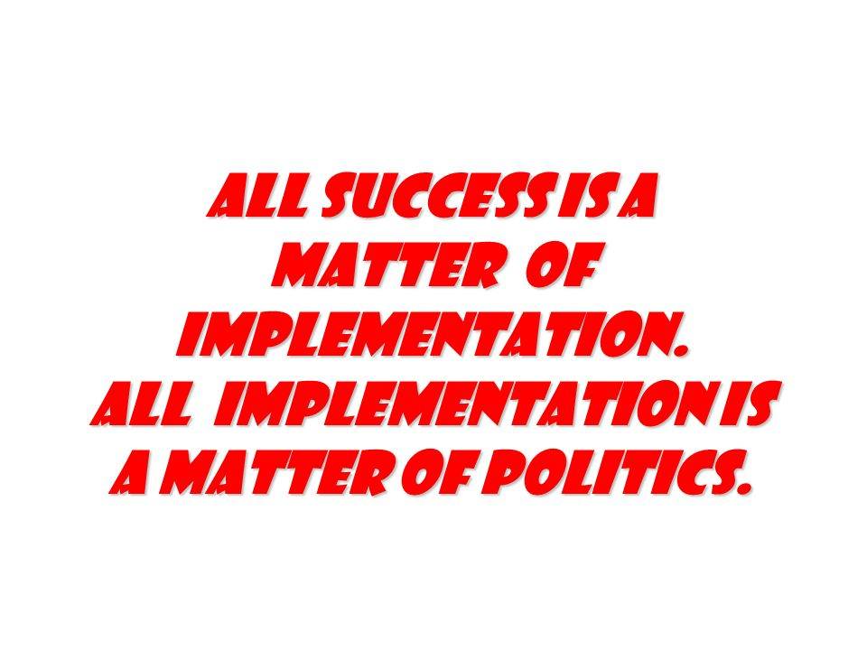Matter of implementation.