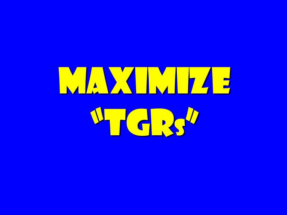 Maximize TGRs 143 143