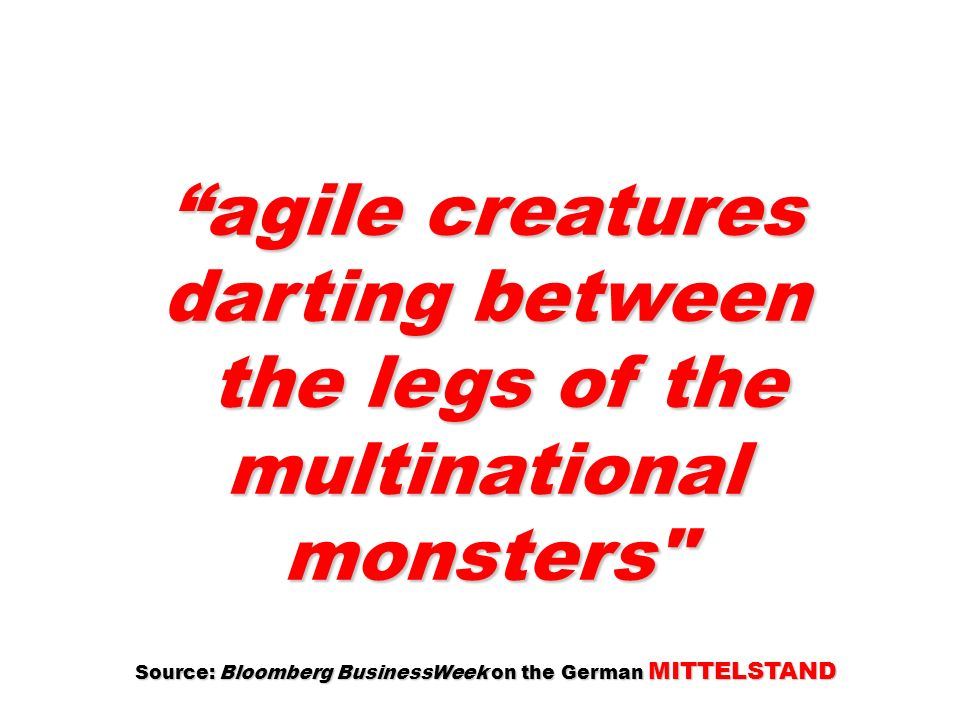 agile creatures darting between
