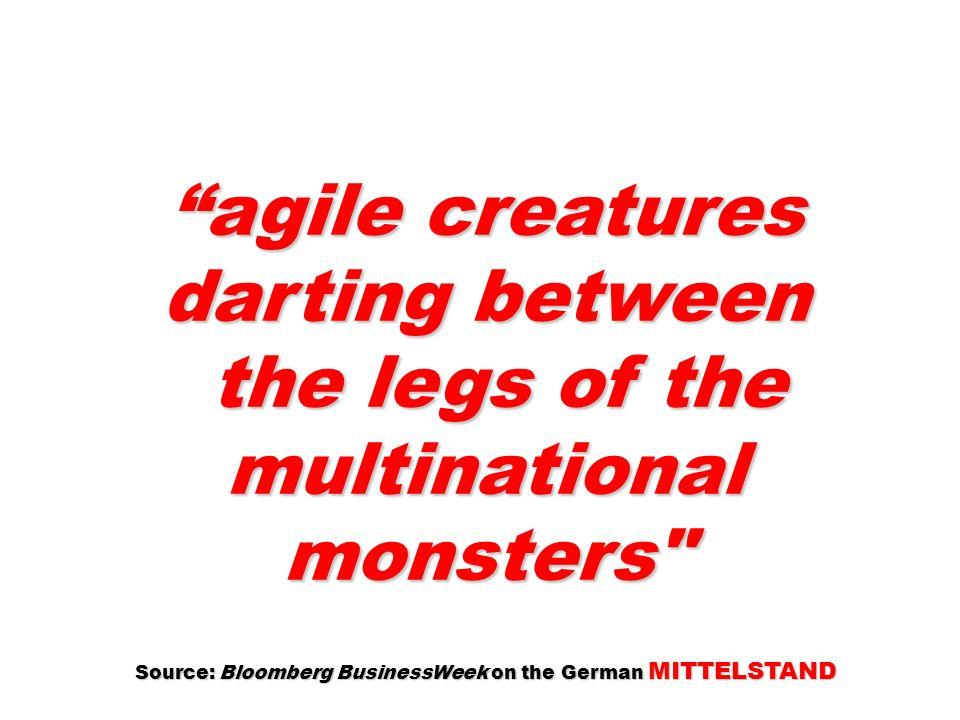 agile creatures darting between