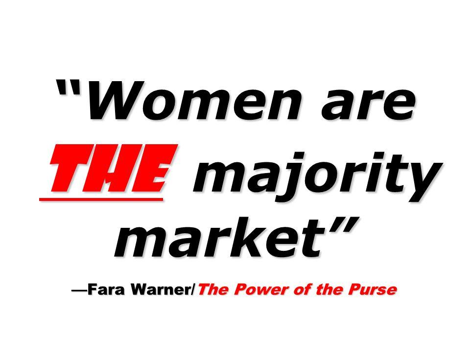 Women are the majority market —Fara Warner/The Power of the Purse