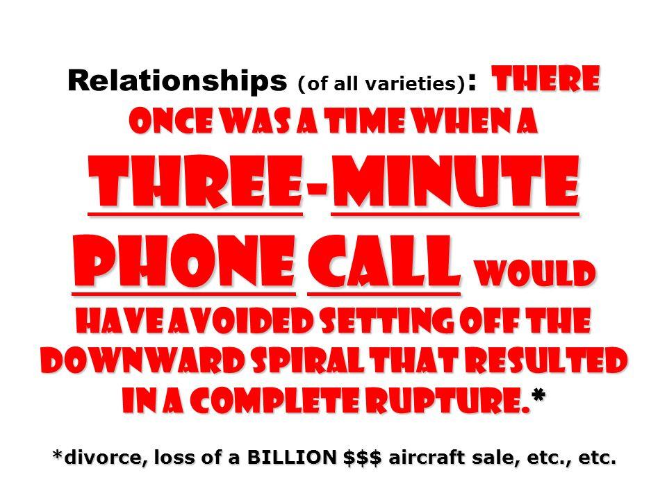 *divorce, loss of a BILLION $$$ aircraft sale, etc., etc.