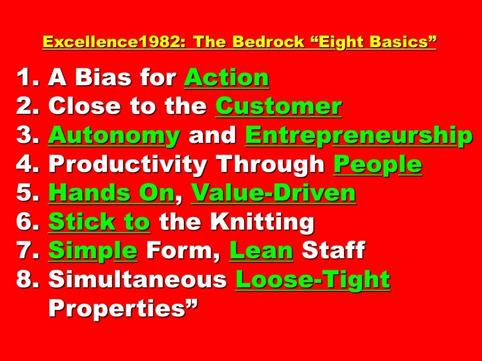 3. Autonomy and Entrepreneurship 4. Productivity Through People