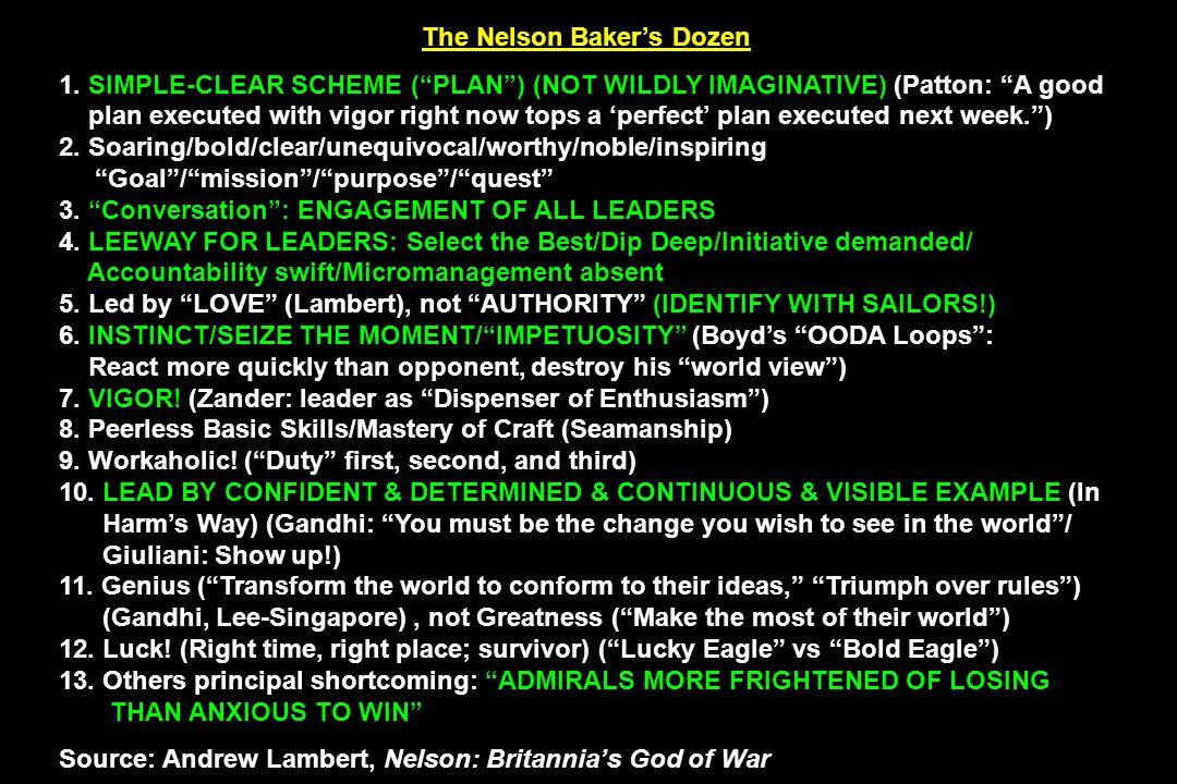 The Nelson Baker's Dozen
